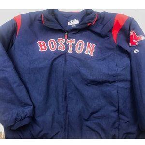 Boston Red Sox Men's Zip Up Jacket Size 4X